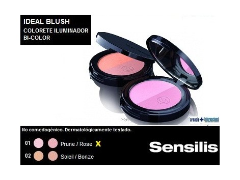 Sensilis Blush Colorete Compacto Bi-color 5 gramos 01 Prune / Ro