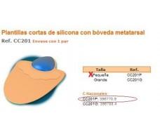 Comforsil Plantillas Cortas de Silicona con bóveda metatarsal P.