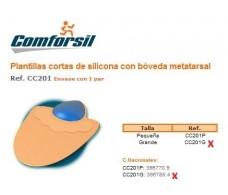 Comforsil Silicone Plantillas Cortas con bóveda metatarsal Grand