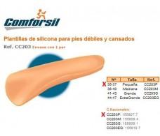 Comforsil Silicone Plantillas para pies débiles y cansados 35-37