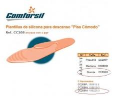 """Comforsil Silicone Plantillas Descanso """"Pisa Cómodo"""" 40-45."""
