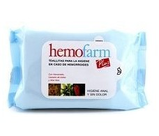 Hemofarm Plus Toallitas para la higiene anal 20 unidades.