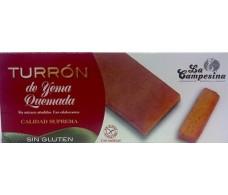 La Campesina Turron yema quemada 200 gramos. Sin gluten.