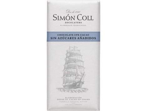 Simon Coll Chocolate 54% Cacao sin azucares 85 gramos. Velero.
