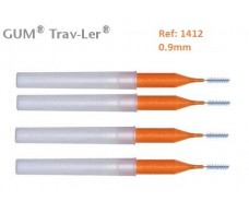 Gum Cepillo Interdental Trav-ler 1412. 0.9mm Cilindrico 4 unidad