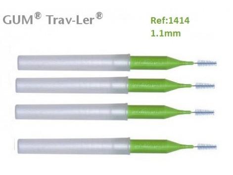 Gum Cepillo Interdental Trav-ler 1414. 1.1mm Cónico 4 unidades.