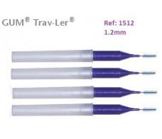 Gum Cepillo Interdental Trav-ler 1512. 1.2mm Cilíndrico 4 unidad