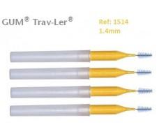Gum Cepillo Interdental Trav-ler 1514. 1.3mm Cónico 4 unidades.