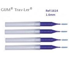 Gum Cepillo Interdental Trav-ler 1614. 1.6mm Cónico 4 unidades.
