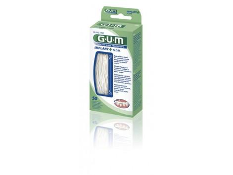 Gum Implant+ Floss Seda interproximal 50 unidades. REF2090M