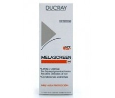 Ducray Melascreen Crema Solar Antimanchas SPF50+, 40ml.