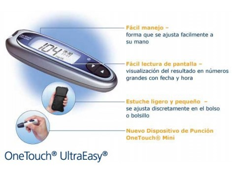 Medidor de glucosa OneTouch Ultraeasy LifeScan - FARMACIA
