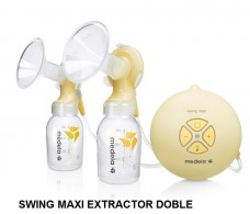 Medela Swing Maxi Extractor de leche eléctrico doble.