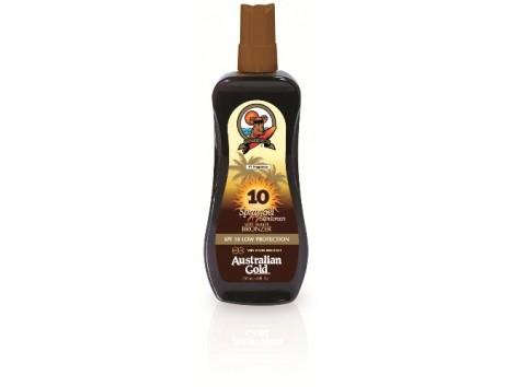 Australian Gold Bronzer Gel Spray SPF 10 237ml. Protección Baja