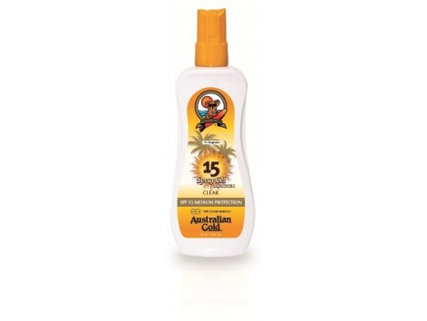 Australian Gold sunscreen SPF 15 Spray Gel 237ml.