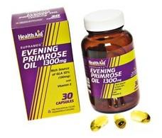 Health Aid Aceite de Onagra 1300mg. + Vit.E  30 capsula