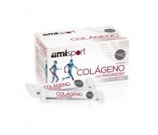 Amlsport Colágeno con Magnesio+Vit.C 20 sticks sabor fresa