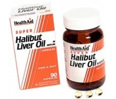 Halibut Liver Oil. Aceite de higado de Halibut. 90 capsulas