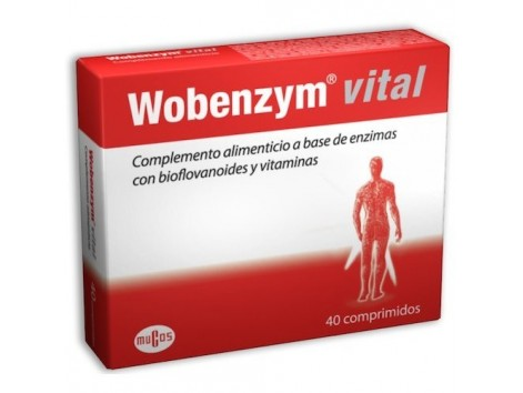 Wobenzym Vital 40 comprimidos. MUCOS