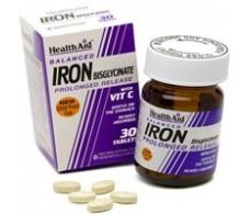 Health Aid Iron Bisglycinate. 30 capsules. Iron with Vit. C