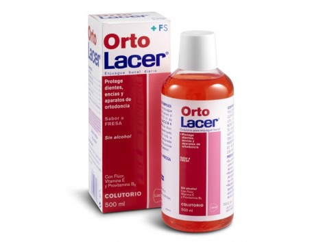 OrtoLacer Lacer orthodontic Mouthwash 500 ml strawberry