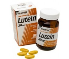 Health Aid Lutein 20mg. Luteina 20mg. 30 comprimidos