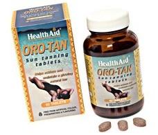 Health Aid Oro - Tan 60 comprimidos. Bronceador de HealthAid