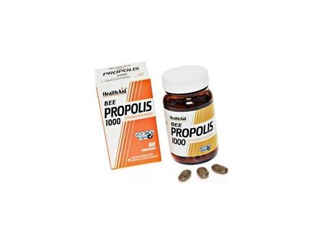 Health Aid Propolis 1000. Propolis 1000mg. 60 tablets