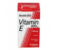 Health Aid Vitamin E 400IU Natural 60 vegetarian capsules