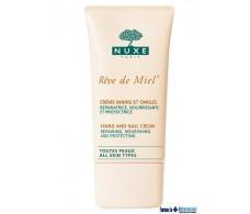 Nuxe Reve de Miel Hand Cream 75ml and nails.