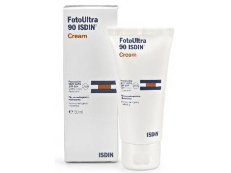 Fotoprotector Isdin Ultra SPF90 crema resistente al agua 50ml.