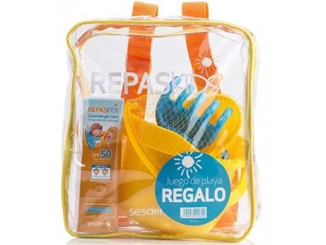 Sesderma Repaskids Fotoprotector SPF50 Crema Gel + regalos para la playa