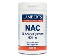 Lamberts NAC (N-acetyl cysteine) 600mg. 90 capsules. Lamberts