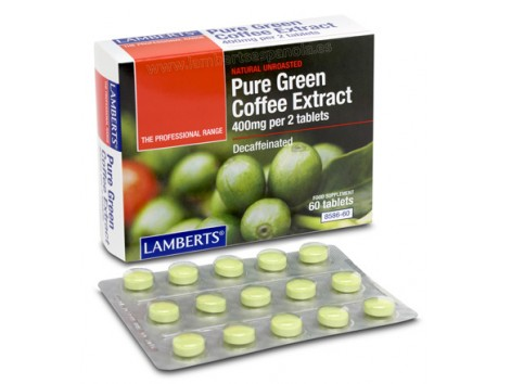 Lamberts Decaffeinated Green Coffee Extract 400mg. 60 tablets.