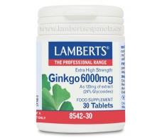 Lamberts Ginkgo biloba 6000 mg. 180 tablets.