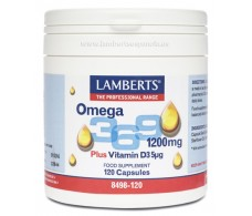 Lamberts Omega 3,6,9 1200mg. más vitamina D3 (5 μg) 120 cápsulas