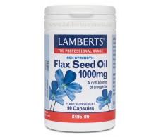 Lamberts Aceite de semillas de lino 1000 mg. 90 cap. Flax Seed O