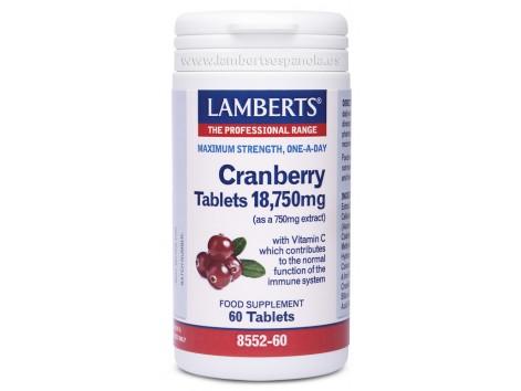 Lamberts Cranberry 18750mg. 60 tablets.