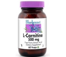 Bluebonnet L-Carnitine 500 mg 60 Vcaps (amino acid)