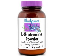 Bluebonnet de L-Glutamina en polvo 114 gramos.