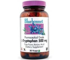 Bluebonnet L-triptófano 500 mg 30 capsulas vegetales.