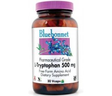 Bluebonnet L-tryptophan 500 mg 30 capsules.
