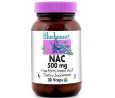 Bluebonnet NAC (N-acetil-L-cisteína) 500 mg 60 capsulas.