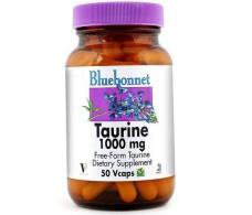 Taurine 1000 mg 50 Vcaps Bluebonnet