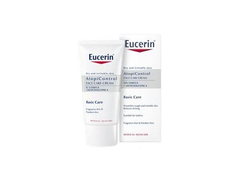 Eucerin AtopiControl Facial Cream 50ml dry irritated skin