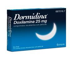 Dormidina doxylamine 25 mg 14 tablets