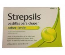 Strepsils limon 24 pastillas para chupar (sin azúcar)