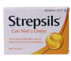 Honey and Lemon Strepsils lozenges 24