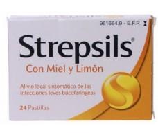 Strepsils Miel y limón 24 pastillas para chupar
