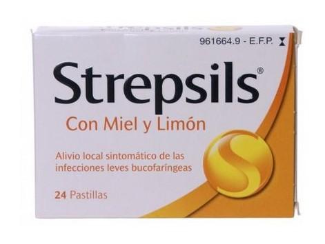 Honey and Lemon Strepsils lozenges 24